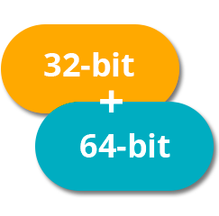 32bit and 64bit application